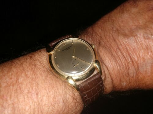 Vintage vacheron constantin solid 18kt gold mens watch with rare horn lugs. - watch picture 1