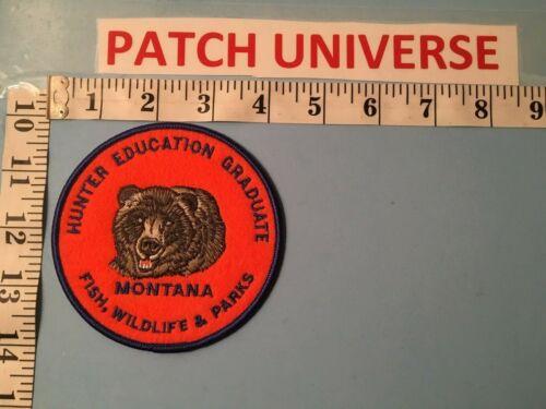 MONTANA  FISH WILDLIFE AND PARKS HUNTER EDUCATION GRADUATE   PATCH  J012