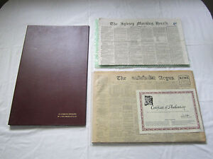 Antique Newspapers! Certified Copy 'The Argus 1928 + Sydney Morning Herald 1860!