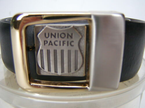 Vintage UNION PACIFIC Rail Road leather Belt & Buckle New Old Stock  FREE SHIP
