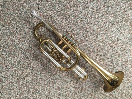 York Cornet 75 Exc.Solid Horn.Xtras,Case