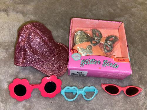 Wellie Wishers Glitter Girls Paola Reina 14 Inch Doll Hat Sun Glasses Backpack  - $14.99