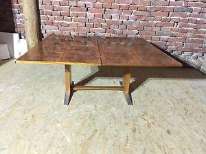 70 er Jahre Tisch, Esstisch, Couchtisch, Höhenverstellbar, Chrom Fuß ,Palisander