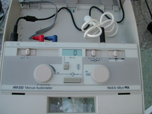 Welch Allyn AM-232  Portable Audiometer Nov 2020 Calibrated Compare !