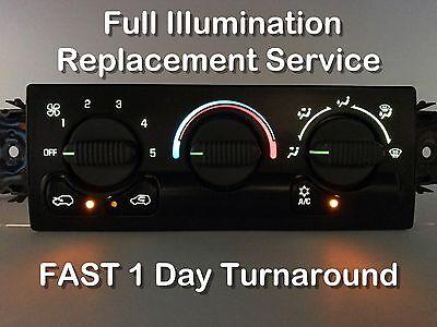 99 02 Chevy   Gmc Truck Heater Control Panel Illumination Bulb Repair Service