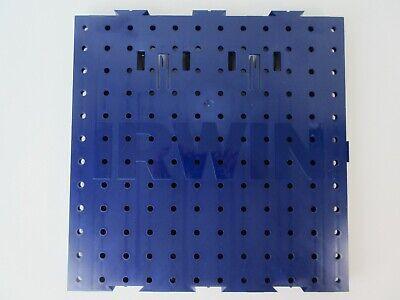 Lot Of 4 Irwin Plastic Peg Board 12 X 12 Interlocking 5 Lots Available