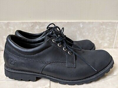 Timberland EarthKeepers Black Leather Oxford Shoes Boots Mens 12