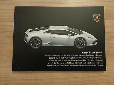 Lamborghini Huracan LP 610-4 NEW Service History Book
