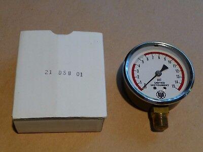 Pressure Gauge 2-12 0-15 Psi Nsn 6685-01-078-2838 Nos Nib Good Steampunk