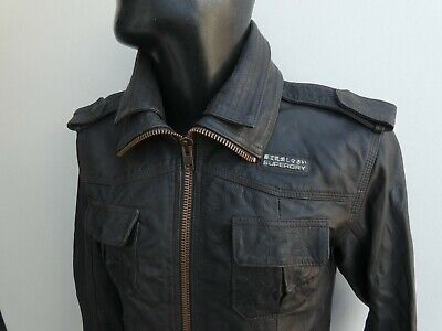 SUPERDRY BLACK LEATHER JACKET SIZE S VERY GOOD CONDITION!!!!!!