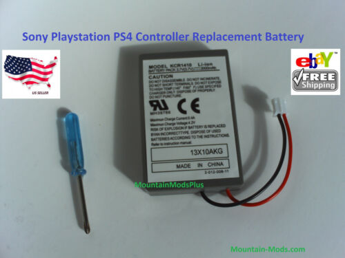 2x Sony Playstation PS4 Controller 2000mAh Replacement Rechargeable Battery Tool