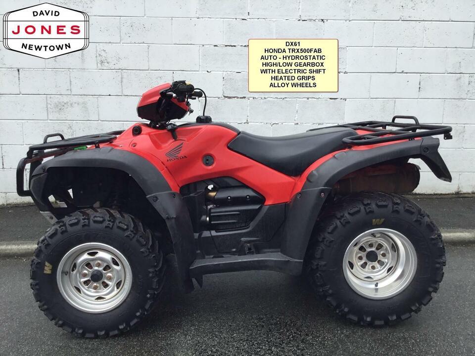 2011 HONDA TRX500 AT FA AUTO FOREMAN HYDRO 10 SPEED LOW BOX 4x2x4 4WD QUAD ATV