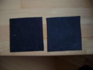 Gummiunterlage 2x ( 11 cm x11cm )3  mm Gummi Platte Matte Dichtung Schiene Nr3