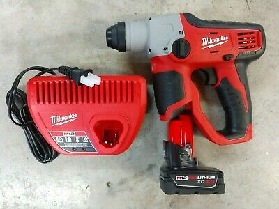 Milwaukee M12 12 Sds Plus Rotary Hammer W 3.0ah Battery Model 2412-20