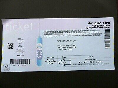 Concert Ticket - ARCADE FIRE- Sportpaleis - Antwerp - Belgium - 2014