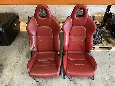 Honda S2000 Front Seats Red Leather