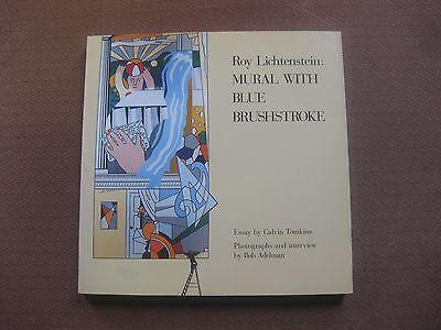 SIGNED - Roy Lichtenstein - MURAL WITH BLUE BRUSHSTROKE -  1st PB 1987 art