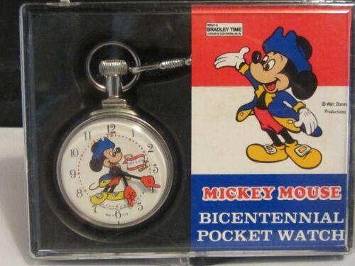 Bradley Mickey Mouse Bicentennial Pocket Watch