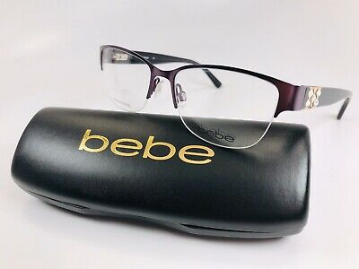 New bebe BB5124 505 Plum SLEEK Eyeglasses 51mm  with bebe Case