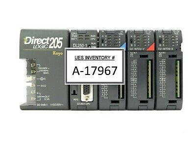 Automation Direct D2-04b-1 5-slot Plc Controller Directlogic 205 Koyo Working