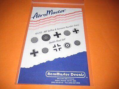 AEROMASTER DECALS RAF WW II ROUNDELS AMD48243