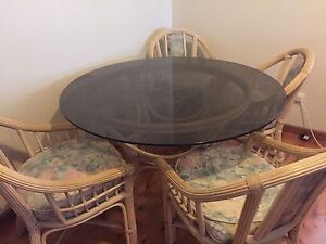 Cane Dining Table and Chairs  $150 Mayfield East Newcastle Area Preview