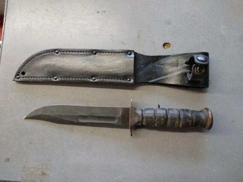 US Vietnam Era Conetta Fighting Knife w/ Sheath MILITARY