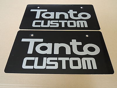 JDM DAIHATSU TANTO CUSTOM Original Dealer Showroom Display License Plates Pair