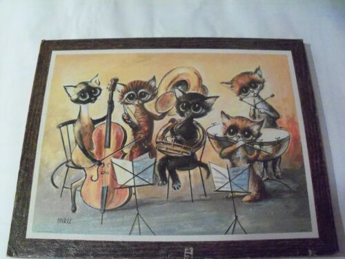 Miree, Vintage poster art, cats playing musical instruments