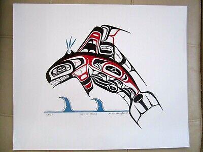NORTHWEST COAST tribal ART - Haida KILLER WHALE large - ORIGINAL PAINTING