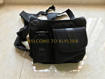Black Radio Chest Harness Bag Front Pack Pouch Holster Vest Rig For Hand Radio