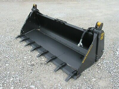 80 4-in-1 Severe Xtreme Duty Tooth Bucket Skid Steer Attachment - Ship 199