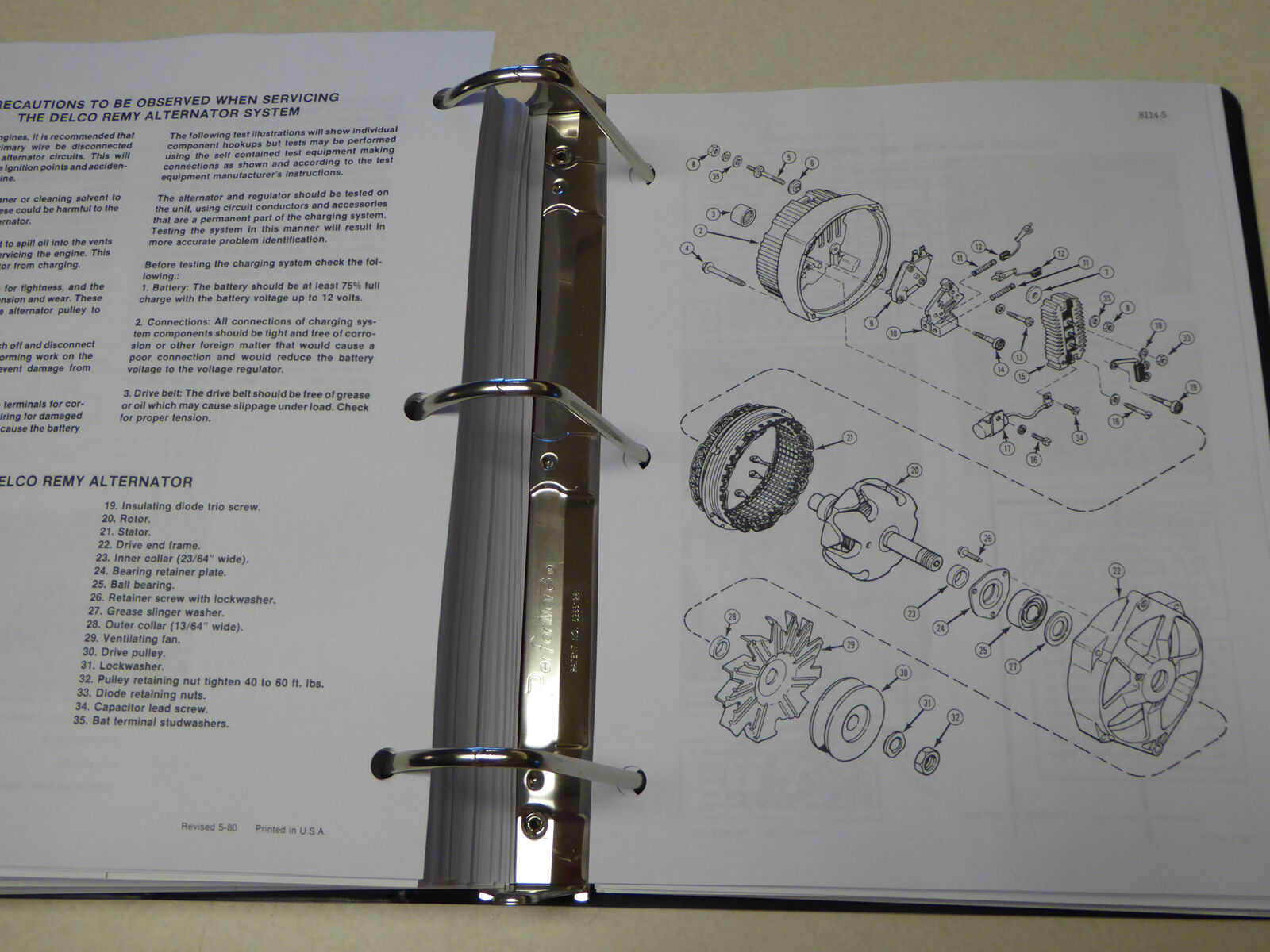 8 of 12 CASE 580B (580CK B) Tractor Loader Backhoe Service Manual Repair  Shop NEW