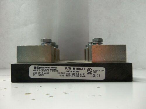 Nice Ferraz Shawmut 61053T Class T Fuse Holder 3P 100 Amp 600V