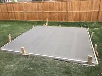 ALL CONCRETE PADS/SLABS FOR SHEDS & HOT TUBES