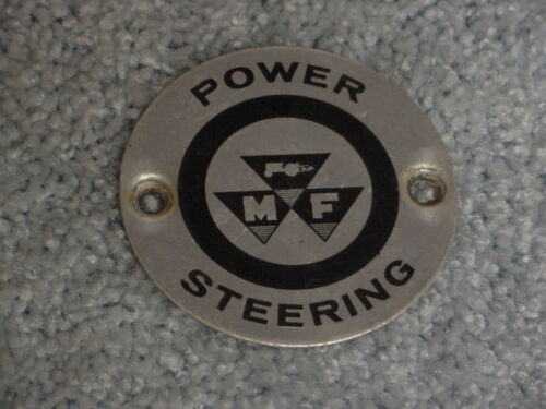 MF MASSEY FERGUSON LOGO ALUMINUM METAL STEERING WHEEL CENTER