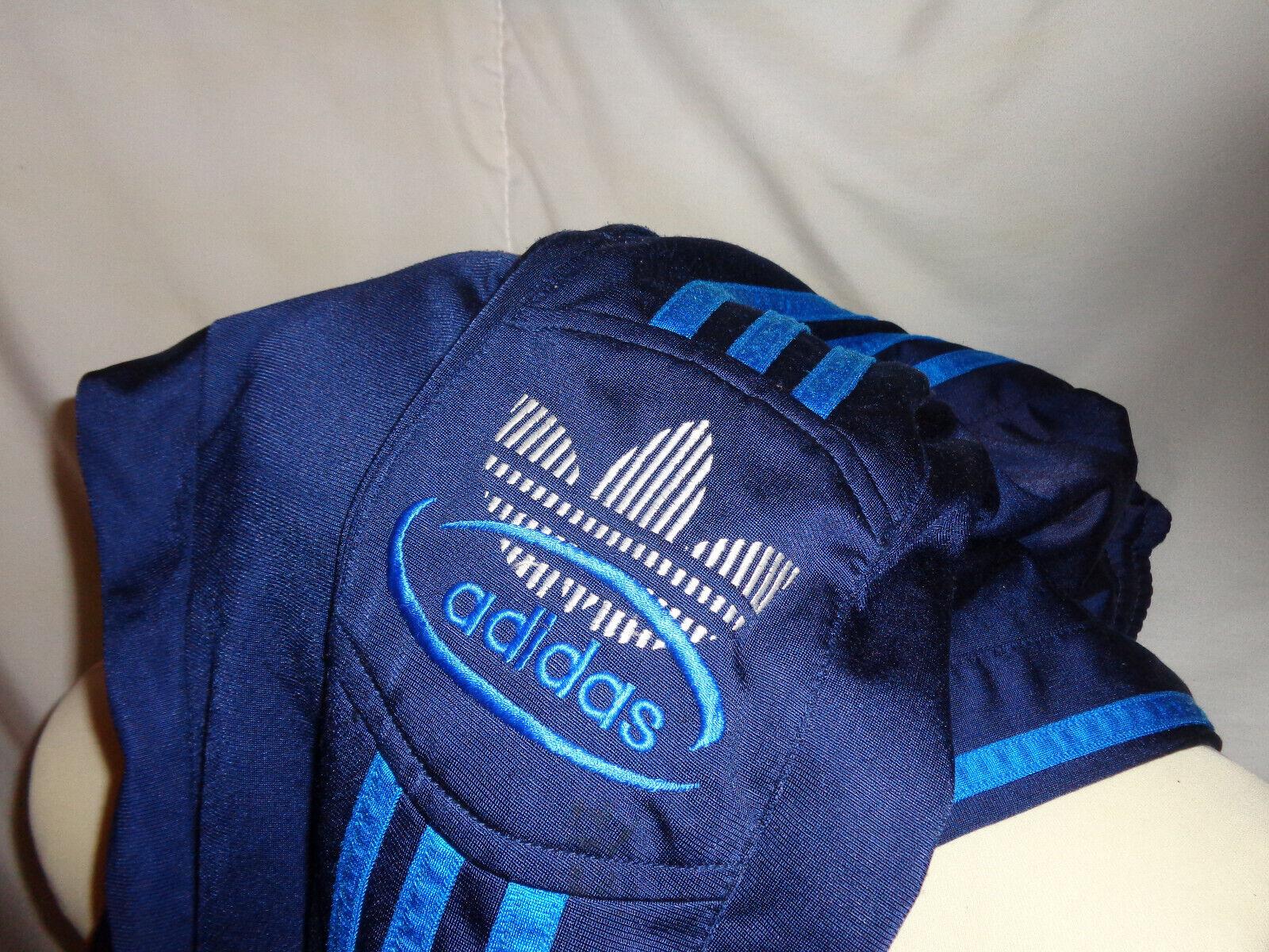 Vintage 90' ancien pantalon survÊtement adidas t180 jogging short bleu marine