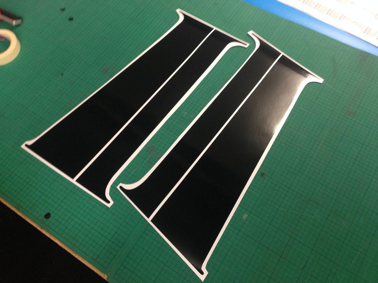 Car Parts - VW T5/T6 Transporter B Pillar Decal Sticker Gloss Black Vinyl *NEW*