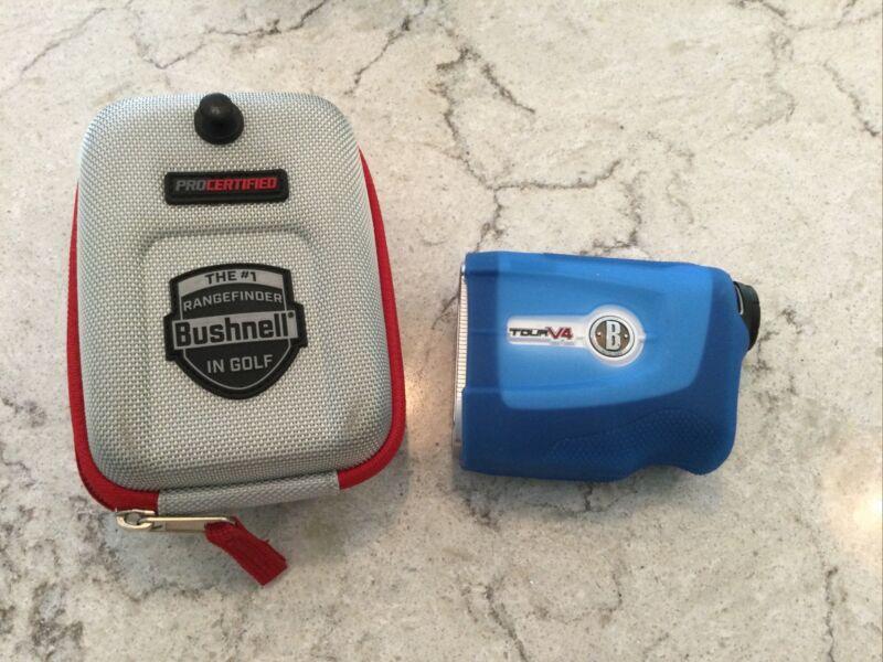 Bushnell Tour V4 Golf Laser Rangefinder w/ Case & Sleeve.Great Shape. Nice Gift