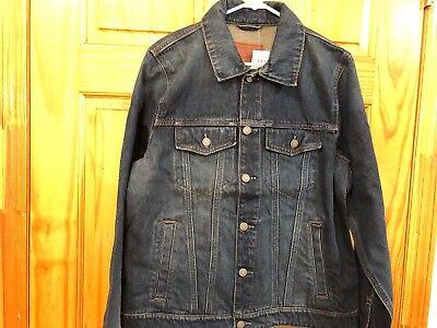 Mens Abercrombie & Fitch Classic Jean Denim Jacket Medium Destroy Size XXL New