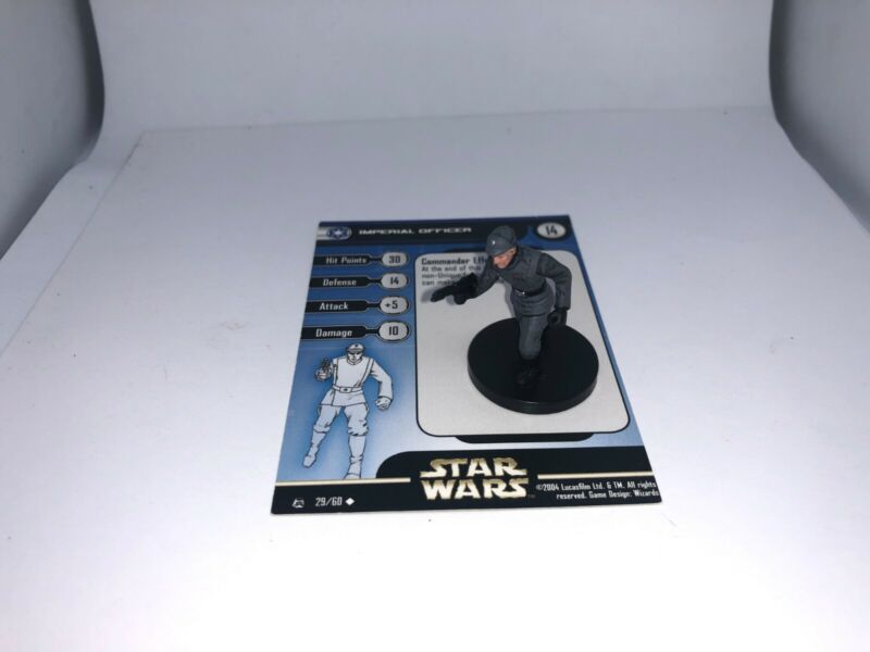 Star Wars Miniatures Imperial Officer Rebel Storm  w/ Card mini RPG Legion