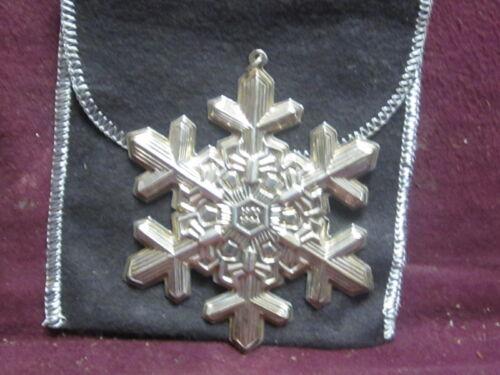 Gorham 1994 Sterling CHRISTMAS SNOWFLAKE  ORNAMENT  Annual Series