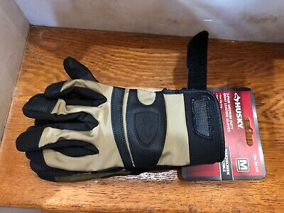 2 Pair Husky Heavy Duty Goat Leather Work Gloves Touchscreen Compatible - Medium