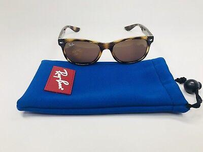 New Ray Ban Jr KIDS RJ 9052S 152/73 Havana Wayfarer Sunglasses 47mm with Pouch