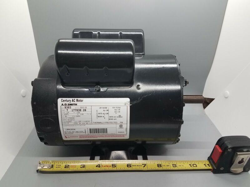 Century 3 HP SPL HP Air Compressor Motor 1 Phase 3450 RPM 115/230 VAC