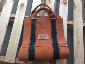 Leather Firewood Carry Bag