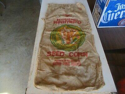 Vintage Very Rare Seed Sack Minhybrid Minnesota Only 1 on eBay Lot 20-55