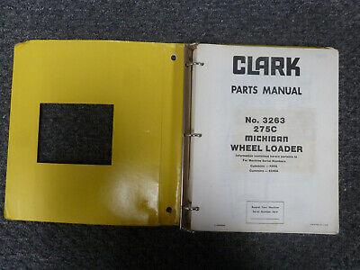 Clark Michigan 275c Wheel Loader Parts Catalog Manual Sn 492a