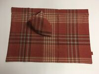 tessuto misto cotone Tovagliette allamericana a coste Pink 33 x 48 cm 33 x 48 cm KH-Haushaltshandel 4 pezzi