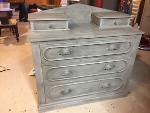Antique solid wood dresser